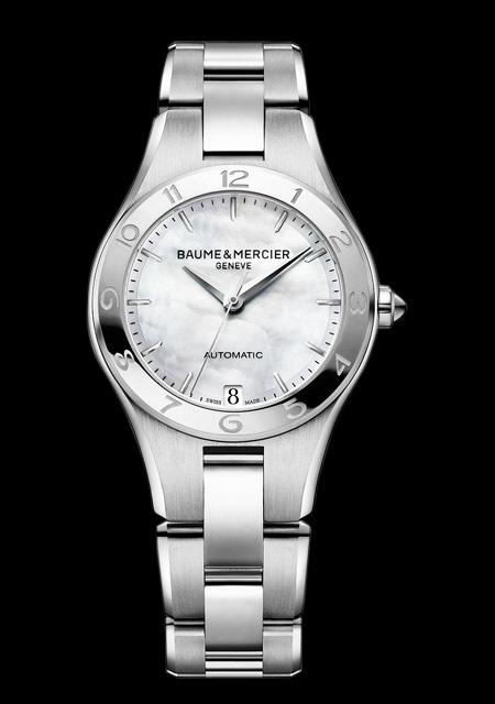 Montre Baume et Mercier Linea Acier Cadran Nacre Bracelet Acier