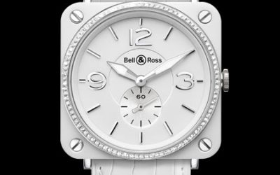 Montre Bell et Ross Ceramique Blanche Diamants