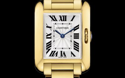 Montre Cartier Tank Anglaise Petit modele or jaune