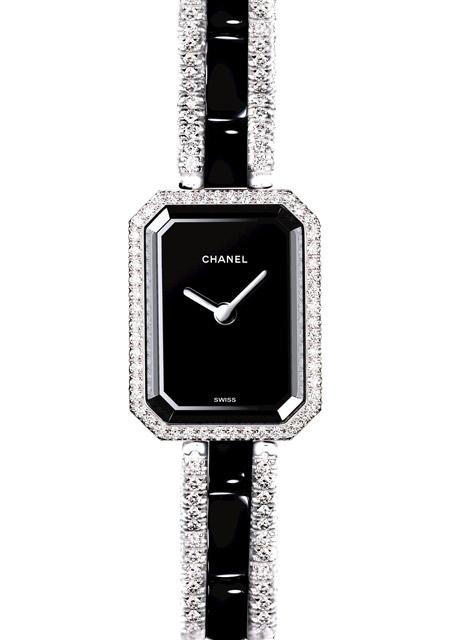 Montre Chanel Premiere or blanc Diamants ceramique - Montre Femmes 571f1c5959e8