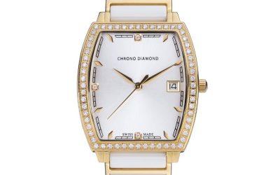 Montre céramique femme Chrono Diamond Leandra