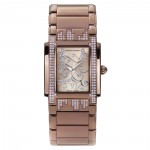 Montre femme luxe Chrono Diamond Lenya Marron